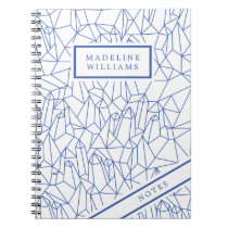 Blue Geometric Shapes Notebook