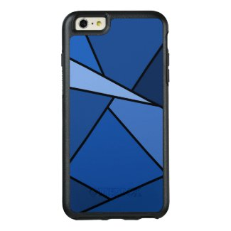 Blue Geometric Shapes Outlined in Black