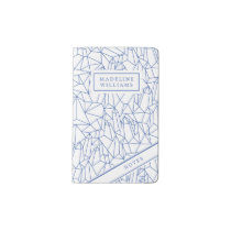Blue Geometric Shapes Pocket Moleskine Notebook