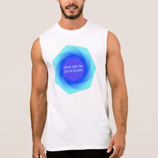 Blue geometric sleeveless shirt
