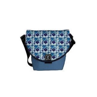 Blue Geometric Squares Pattern