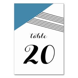 Blue Geometric Stripe Table Card