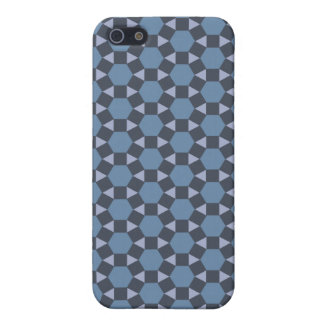 Blue Geometric Tiled Tessellation Pattern Cases For iPhone 5