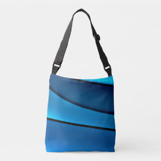 BLUE GEOMETRIC TOTE BAG FOR SENIOR WOMAN
