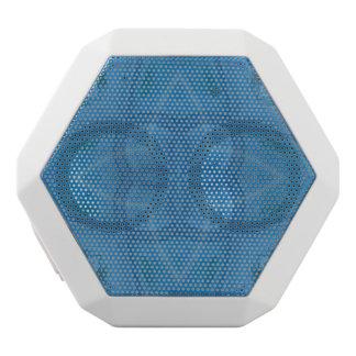Blue geometric wood pattern white boombot rex bluetooth speaker