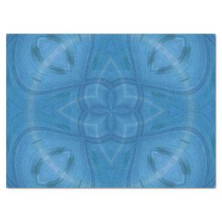 """Blue geometric wood pattern 17"""" x 23"""" tissue paper"""