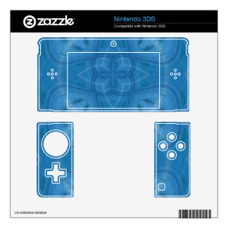 Blue geometric wood pattern skins for 3DS