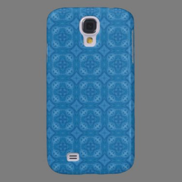 Blue geometric wood pern samsung galaxy s4 cases