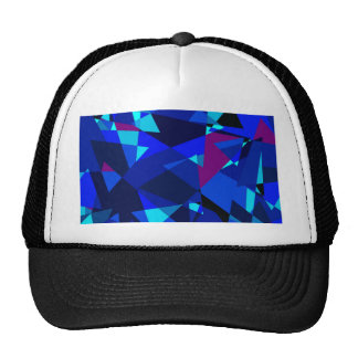 Blue geometrical design by Moma Trucker Hat