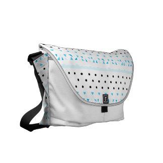 Blue Geometrics Courier Bag