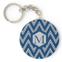 Blue Geometry Collection Keychain