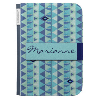Blue Geometry Pattern Kindle Cover
