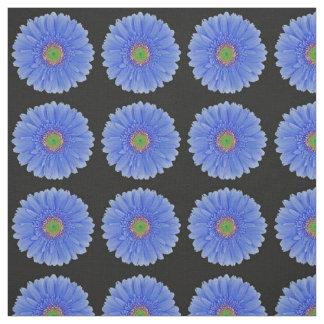 Blue Gerbera Daisy Fabric