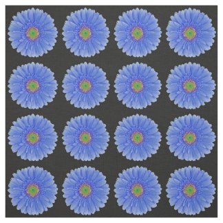 Blue Gerbera Daisy Fabric - Fashion, Home, Wedding