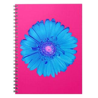 Blue Gerbera Daisy Notebook