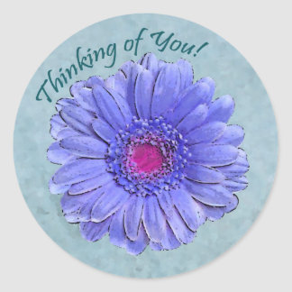 Blue Gerbera Thinking of You sticker