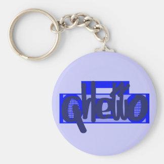 Blue Ghetto Keychain