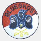 Blue Ghost patch sticker