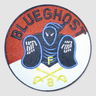 Blue Ghost patch sticker