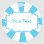Blue Giant lollipop candy Buffet label Stickers