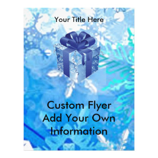 Blue Gift Box with Blue Ribbon Flyer