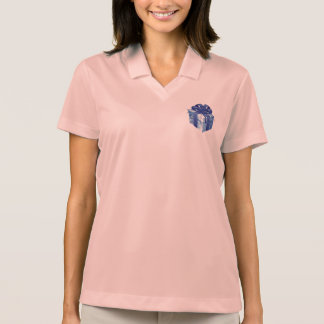 Blue Gift Box with Blue Ribbon Polo T-shirt