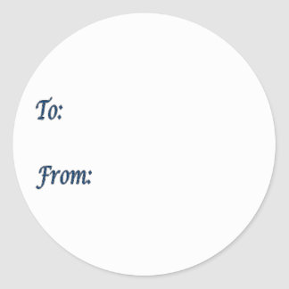 Blue Gift Tag