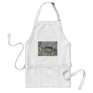 blue gill and fishing lures and hook adult apron