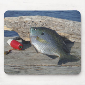 Blue Gill on the Dock Mouse Pad