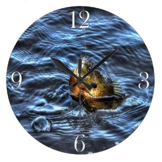 Blue-Gill Sun Fish Fisherman's Sporting Gift Clock