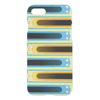 Blue Ginger Cat iPhone 7 Clearly™ Deflector Case