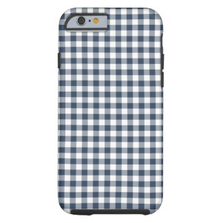 Blue Gingham Tough iPhone 6 Case