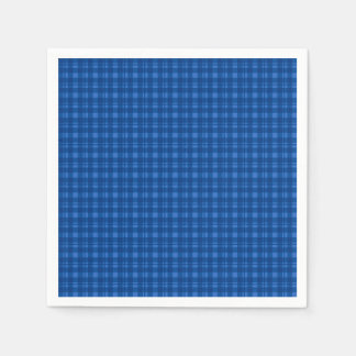 Blue Gingham Check Tartan Pattern Napkin