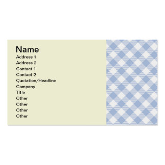Blue Gingham checkered classic pattern Business Card