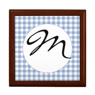 Blue Gingham checkered classic pattern Gift Box