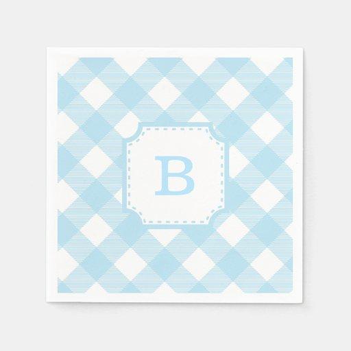 paper checkered napkins