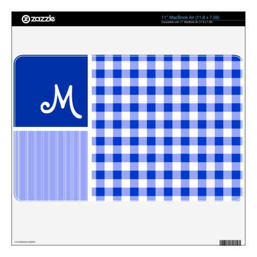Blue Gingham; Checkered Skin For The MacBook Air