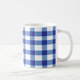 Blue Gingham Coffee Mug