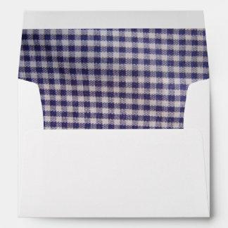 Blue Gingham Envelope