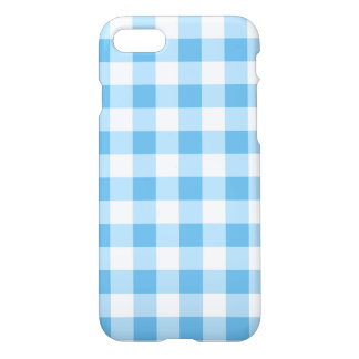 Blue Gingham iPhone 7 Case