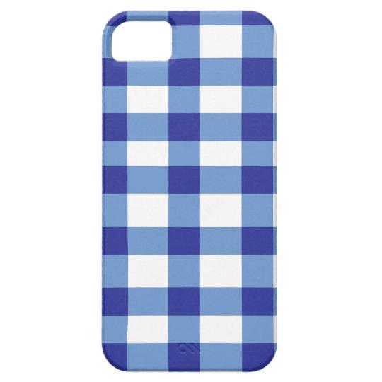Blue Gingham iPhone SE/5/5s Case