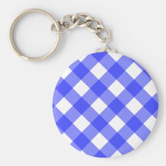 Blue Gingham Keychain