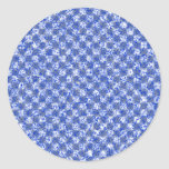 Blue Gingham Like Pattern Stickers