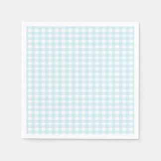 gingham paper napkins