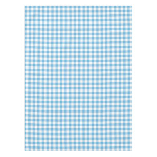 Charmant Blue Gingham Tablecloth