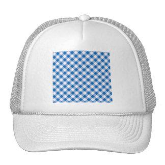 Blue Gingham Trucker Hat