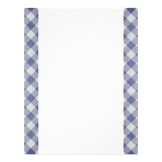 Blue Gingham Two-Sided Paper