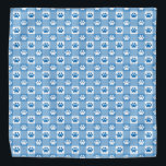 """Blue Gingham with Paw Prints Bandana<br><div class=""""desc"""">Pamper your pet with this timeless blue gingham with paws patterned bandana!</div>"""