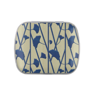 blue ginkgo jelly belly candy tin