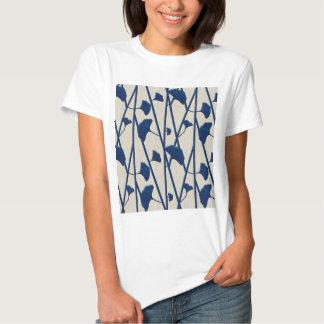 blue ginkgo t shirt